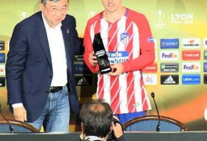 Griezmann named man of the match as Atletico Madrid win Europa League