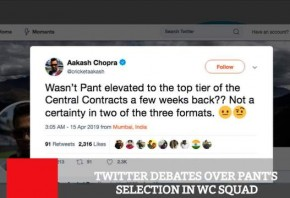 Twitter Debates Over Pant s Selection In WC Squad