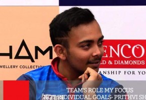 Team s Role My Focus Not Individual Goals - Prithvi Shaw