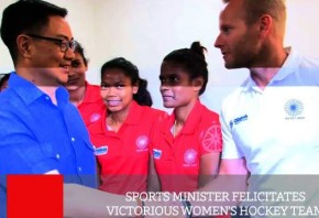 Sports Minister Felicitates Victorious Women s Hockey Team