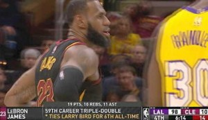 LeBron James joins Larry Bird on all-time triple-double list