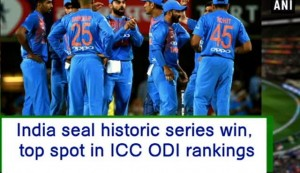 India seal historic series win, top spot in ICC ODI rankings