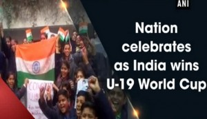 Nation celebrates as India wins U-19 World Cup