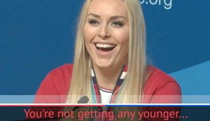 Vonn laughs off suggestion she's getting old
