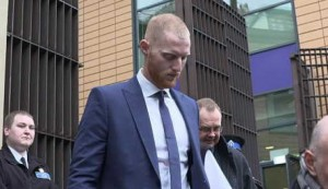 Stokes leaves court after answering affray charge
