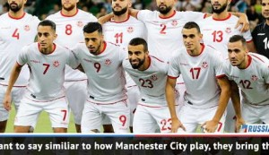 Tunisia take risks...similiar to Manchester City - Delph