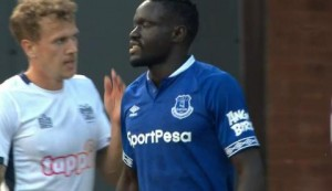 Fourth time lucky! Niasse hits post three times before scoring Everton equaliser