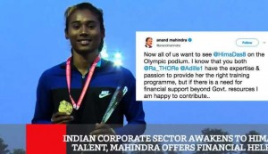 Indian Corporate Sector Awakens To Hima's Talent, Mahindra Offers Financial Help