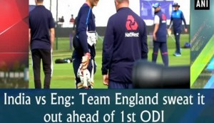India vs Eng: Team England sweat it out ahead of 1st ODI