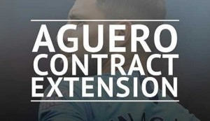 Sergio Aguero extends contract at Man City