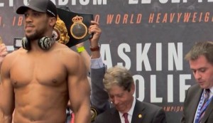 Joshua outweighs Povetkin ahead of clash