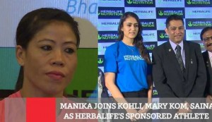 Manika Joins Kohli, Mary Kom, Saina As Herbalife's Sponsored Athlete