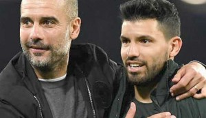 I've always got on well with Aguero - Guardiola