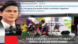 Para Athletes Groove To Srk's Songs In Asian Para Games