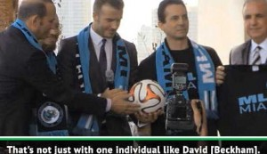 Beckham's Miami franchise a long time coming - Commissioner Garber