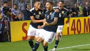 Icardi scores first Argentina goal after five-year wait