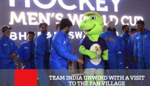 Team India Unwind With A Visit To The Fan Village