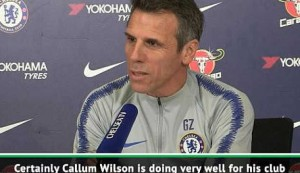Zola reveals Chelsea interest in Bournemouth's Wilson