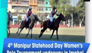 4th Manipur Statehood Day Women's Polo Tournament underway in Imphal