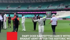 Pant Does Babysitter Dance With Bharat Army After The Historic Win