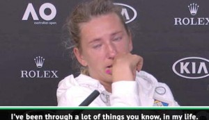 Emotional Azarenka after opening round loss
