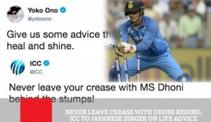 Never Leave Crease With Dhoni Behind, ICC To Japanese Singer On Life Advice