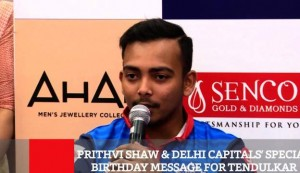 Prithvi Shaw & Delhi Capitals' Special Birthday Message For Tendulkar