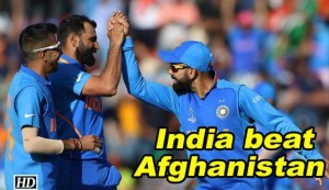 World Cup 2019 - India beat Afghanistan by 11 runs