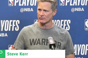 Kerr praises Warriors defence in win over Spurs