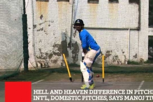Hell And Heaven Difference In Pitches Of Int'l, Domestic Pitches, Says Manoj Tiwary
