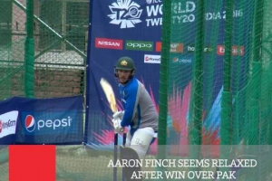 Aaron Finch Seems Relaxed After Win Over Pak