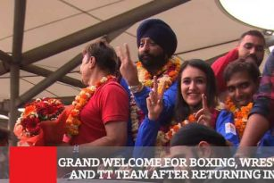Grand Welcome Home For Boxing, Wrestling And Tt Teams
