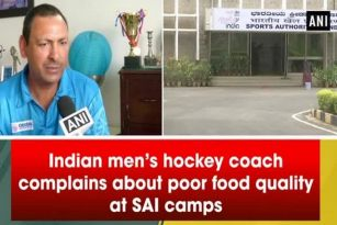 Indian men's hockey coach complains about poor food quality at SAI camps