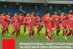 Indian Football Team To Play Against Tajikistan In Hero International Cup