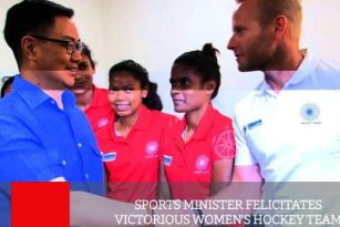 Sports Minister Felicitates Victorious Women's Hockey Team