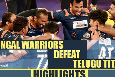 PKL 2017: Bengal Warriors beat Telugu Titans 24-30, highlights