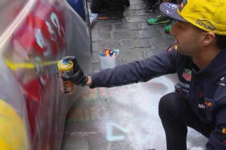 Ricciardo and Verstappen make their mark on Aston Martins