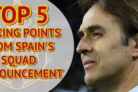Five talking points from Spain's squad announcement