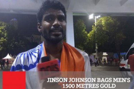 Jinson Johnson Bags Gold In Men's 1500 Metres