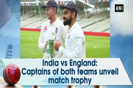 India vs England: Captains of both teams unveil match trophy.