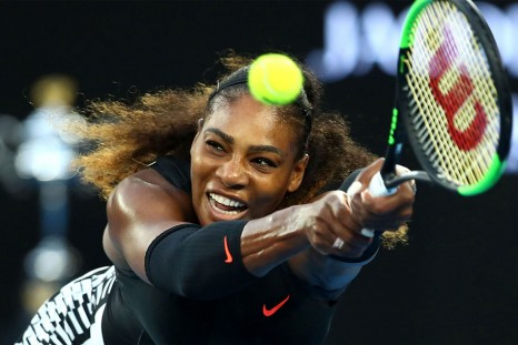 Serena enjoying setting an example for other mothers