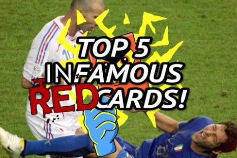 Top 5 infamous red cards after Ronaldo's Champions League sending off