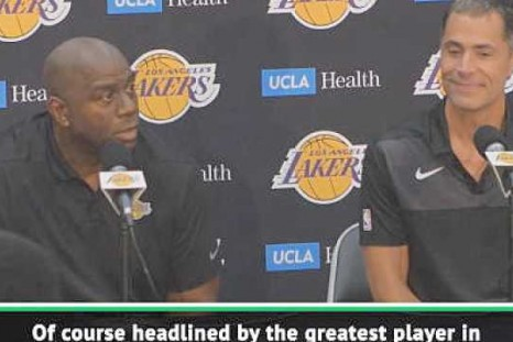 We're thrilled to have greatest player in the world LeBron - Magic Johnson