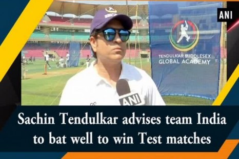 Sachin Tendulkar advises team India to bat well to win Test matches