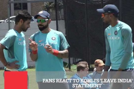 Fans React To Kohli's Leave India Statement