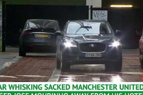 Mourinho leaves Manchester hotel after United sacking
