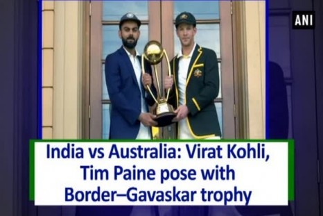 India vs Australia: Virat Kohli, Tim Paine pose with Border - Gavaskar trophy