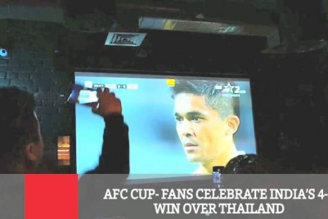 AFC Cup - Fans Celebrate India's 4-1 Win Over Thailand