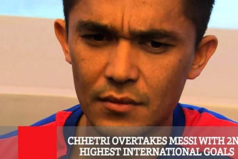 Chhetri Overtakes Messi With 2nd Highest International Goals