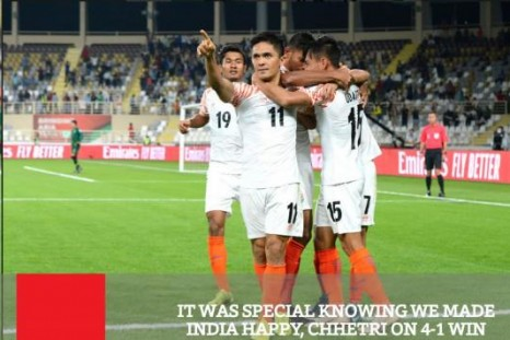 It Was Special Knowing We Made India Happy - Chhetri On 4-1 Win